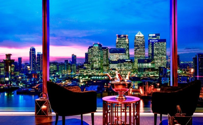 InterContinental at the 02 London Venue Hire SE10, sky bar, stunning views of London, River views