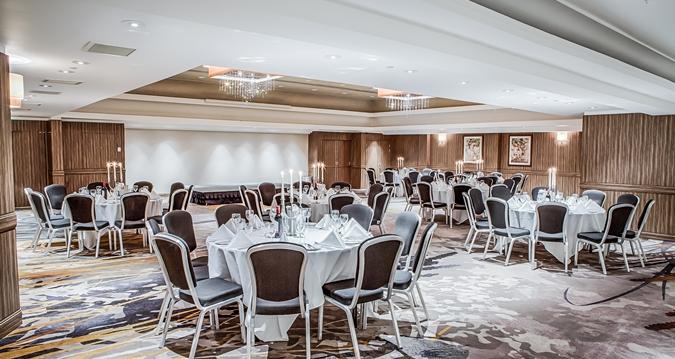 Hilton London Kensington Venue Hire W1, cabaret set p for dinner
