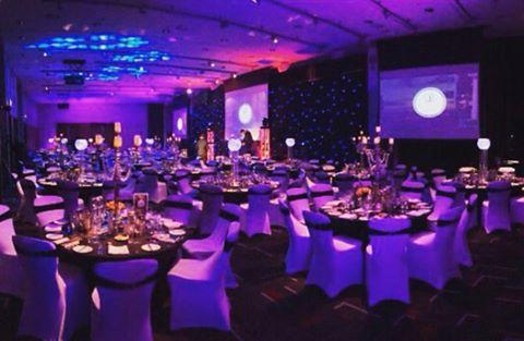 Hilton Liverpool Christmas Party L1, christmas set up