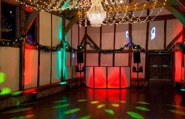 Loseley Park Christmas Party GU3, dancefloor with lights