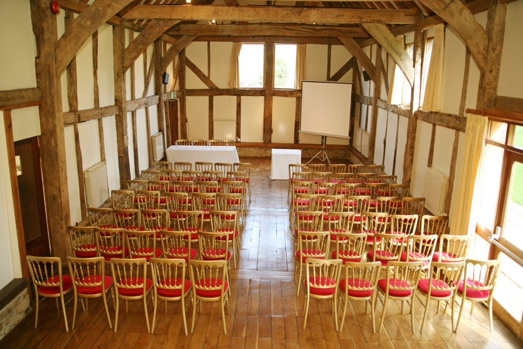 Loseley Park Venue Hire GU3, conference set up in the barn