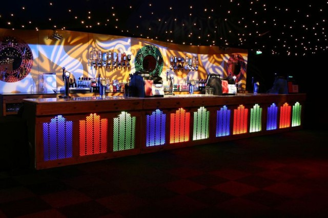 Moonlit in Marrakech Kent Showground Shared Christmas Party ME14, bar, lighting, reception drinks