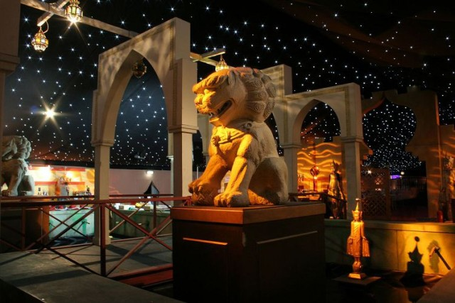 Moonlit in Marrakech Kent Showground Shared Christmas Party ME14, entrance area, reception drinks