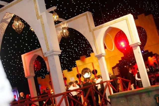 Moonlit in Marrakech Kent Showground Shared Christmas Party ME14, entrance