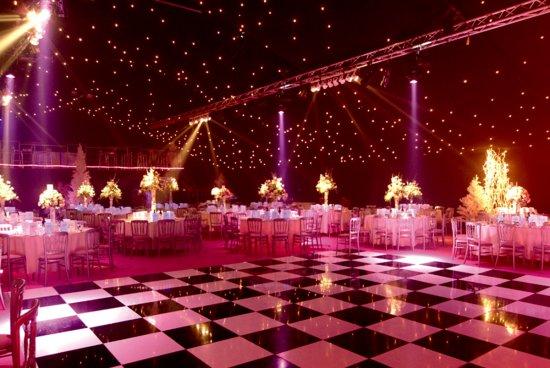 Aldenham Park Masquerade Ball Christmas Party WD6, stunning theming, dance floor, centre pieces