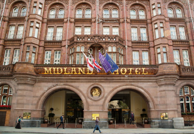 Exterior view of the Midland Hotel Venue Hire M60