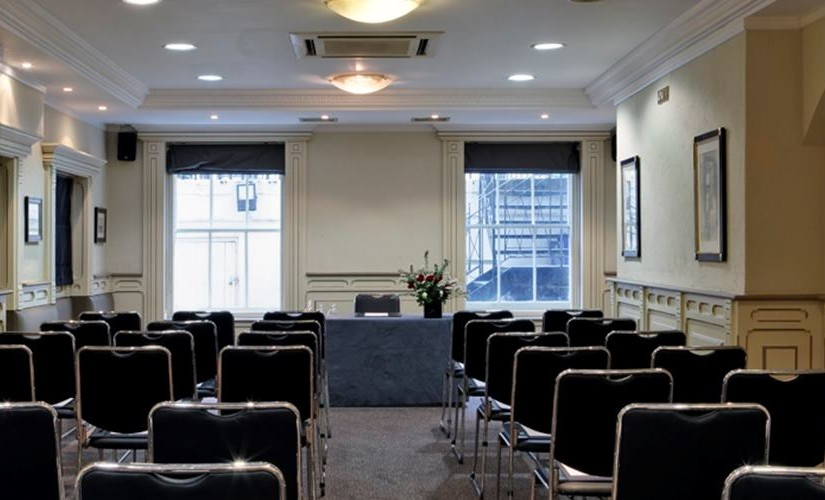 Museum Suite set out in theatre style for a wedding ceremony Grange White Hall Venue Hire WC1
