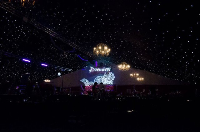 Red Carpet in the Riviera Leeds Christmas Party LS6 live acts, staging, theming