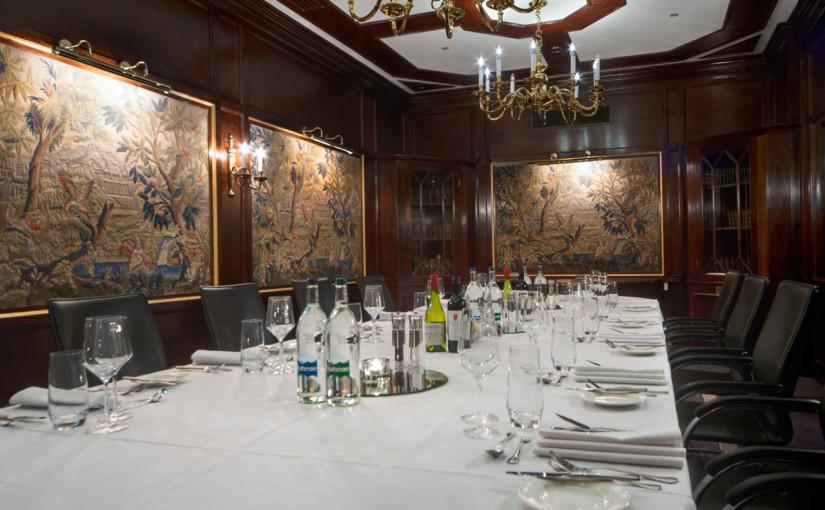 Radisson Blu Portman Venue Hire W1, private dining board room style