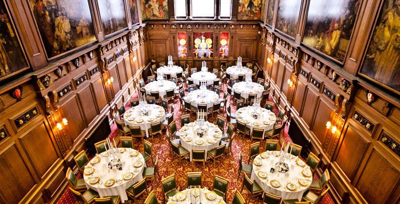 Skinners Hall London Venue Hire EC4, main hall set up for christmas