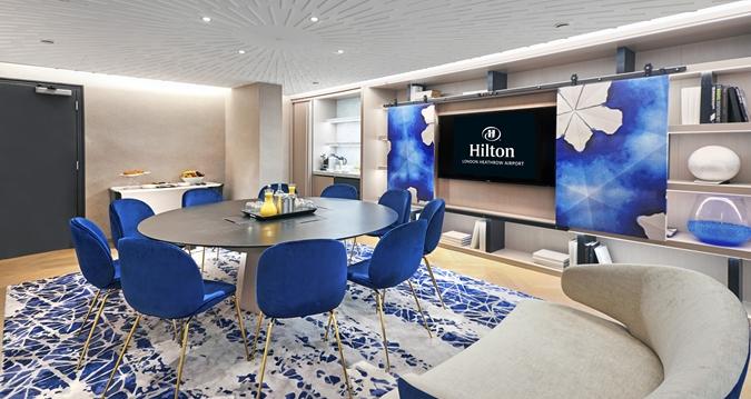 Hilton Heathrow Terminal 4 Venue Hire TW6, board room set up in modern space