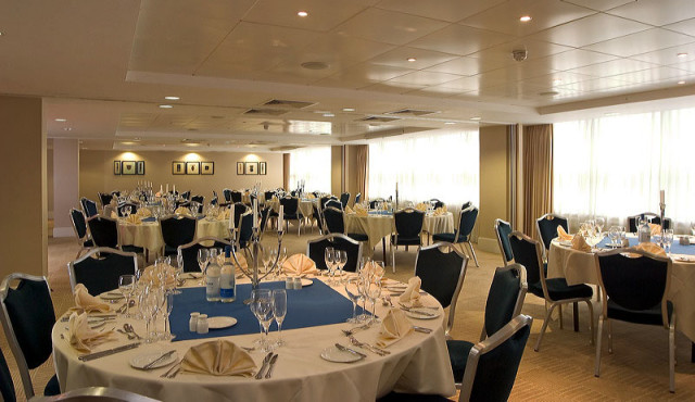 Park Plaza Nottingham Christmas Party NG1, banqueting, round tables
