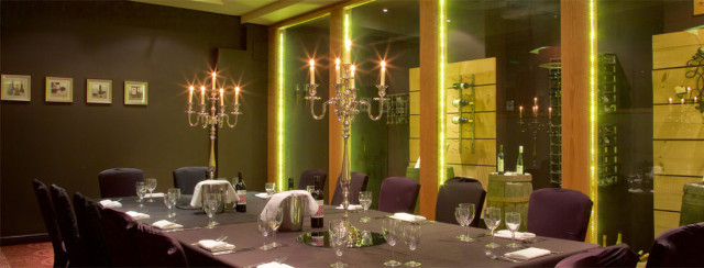 Hallmark Hotel Manchester Christmas Party SK9, private dining room, candelabras