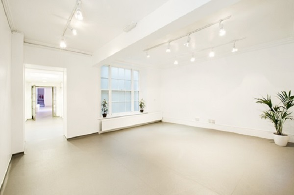 White Space Venue Hire WC2. Blank canvas to work with for your event. white walls and flooring
