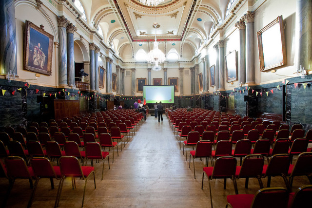 Cutlers Hall Venue Hire S1, theatre style, conference, large screen