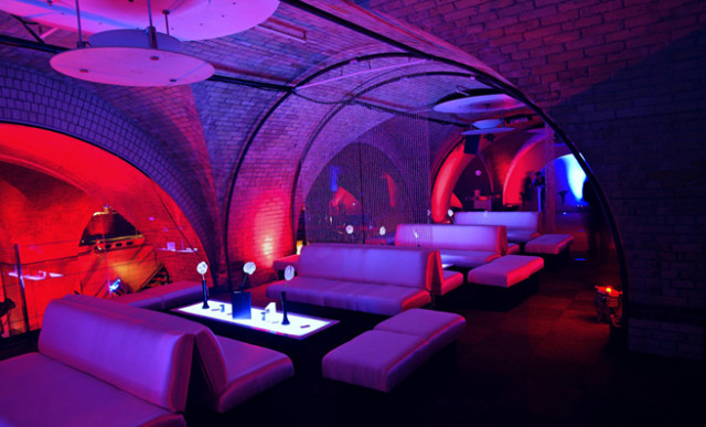 Old Billingsgate Vaults Shared Christmas Party EC3, seating area, lighting