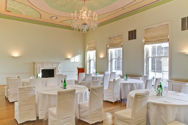 Asia House Venue Hire W1, conferencing, cabaret style seating, natural daylight in event spaces