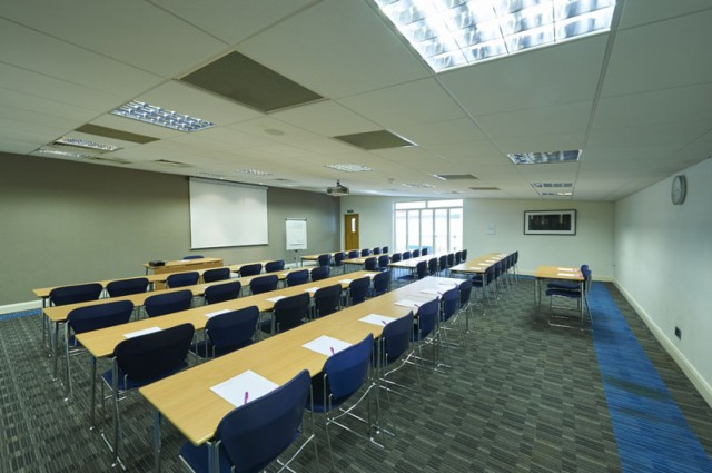 Meeting Room set up in classroom style with whiteboard facilities are the front of the room Avonmouth House Venue Hire SE1