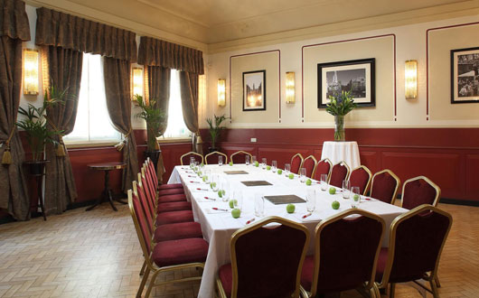 Barristers Court Rooms with lots of natural daylight with large boardroom table set for a formal meeting Browns Covent Garden Venue Hire WC2