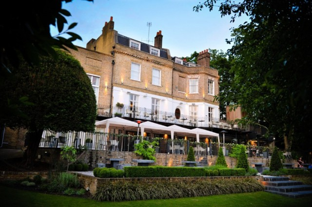 Exterior View with views of the gardens and balcony Bingham Hotel Venue Hire TW10