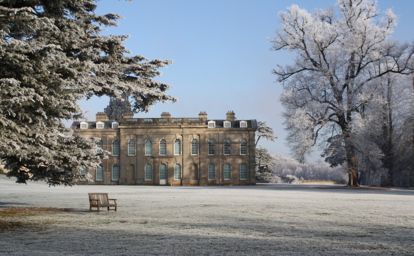 Exterior View with frost on the grass Compton Verney Christmas Party CV35