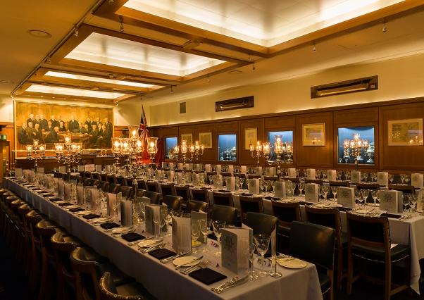 HQS Wellington Venue Hire WC2, seated dinner, historic venue, banqueting