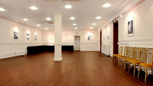 View of the open space Gallery perfect for drinks receptions with white blank walls and pillar int he centre One Birdcage Walk Venue Hire SW1