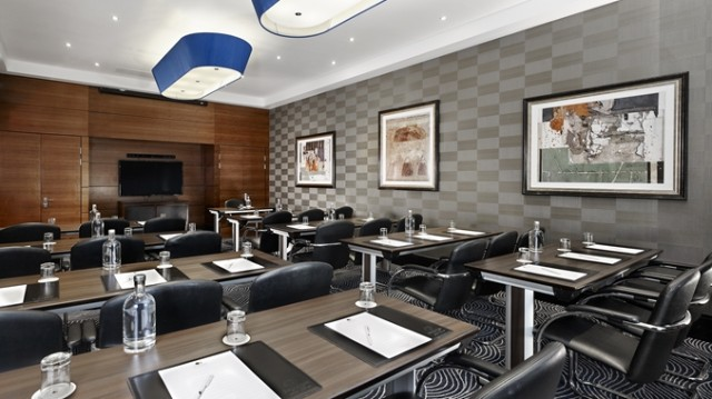 DoubleTree Hilton Victoria Venue Hire SW1, theatre style, smaller meeting room, plasma