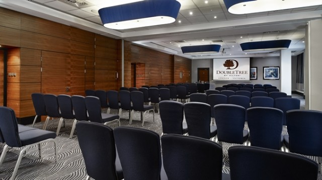 DoubleTree Hilton Victoria Venue Hire SW1, theatre style seating, large screen