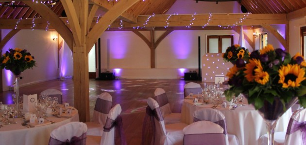 Knebworth House Summer Party Hertfordshire SG3 inside space, barn area