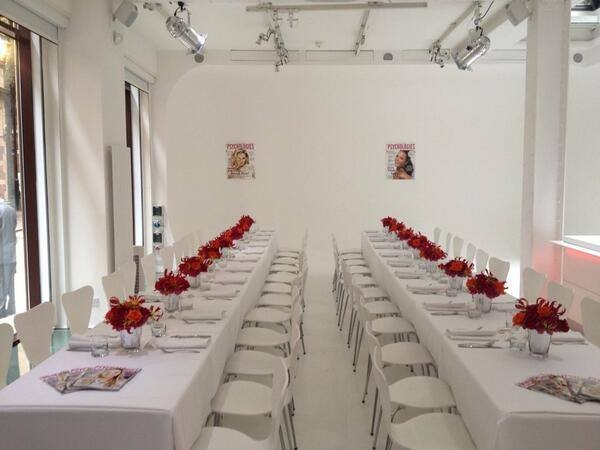 Ice Tank Venue Hire, seated dinner, stunning white interior