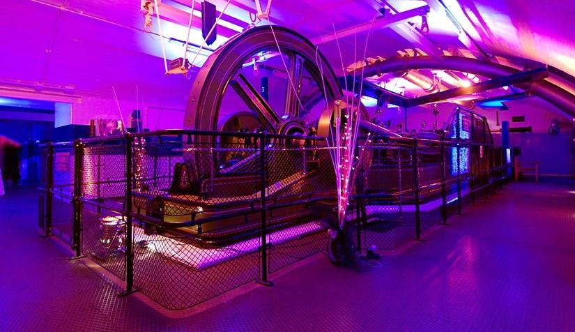 Tower Bridge Engine Rooms Christmas venue SE1, standing reception area, lighting