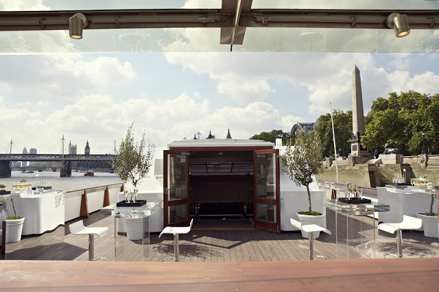 Silver Sturgeon Venue Hire WC2. On board of silver Sturgeon Boat
