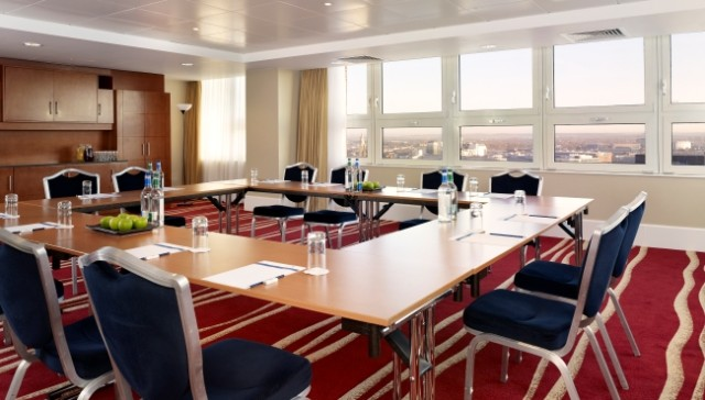 Park Plaza Nottingham Venue Hire NG1, boardroom style, natural daylight, meeting space, ddr packages