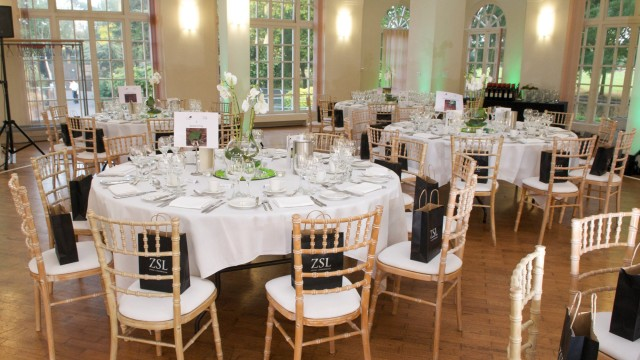 London Zoo Christmas Party NW1, seated dinner, zsl gift bags, centre pieces