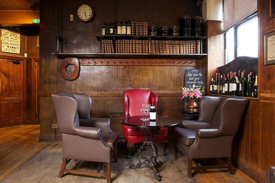 Boot and Flogger Christmas Party SE1, brick walls and cushioned chairs