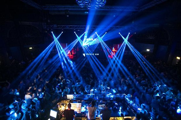 Electric Brixton Venue Hire SW2. Venue with guests being entertained. Standing reception.
