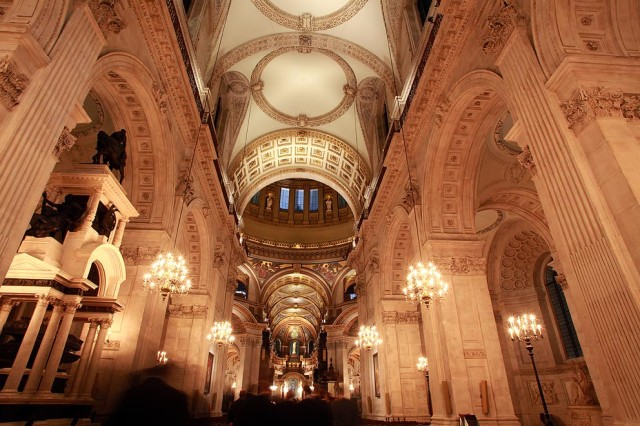 St Pauls Cathedral Christmas Party, venue interior, high ceilings