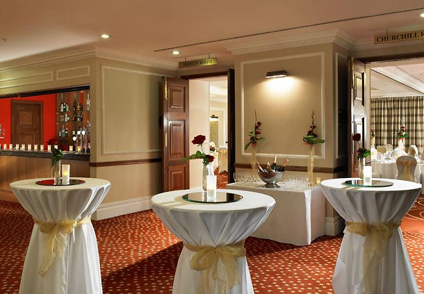 Huntingdon Marriott Hotel Shared Christmas Party PE29, reception drinks area