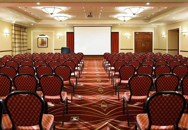 Huntingdon Marriott Hotel Venue Hire PE29, large conference room, theatre style seating