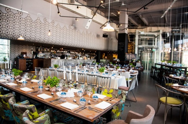 Drift Christmas Party EC2. Venue set out for exclusive Christmas Party.