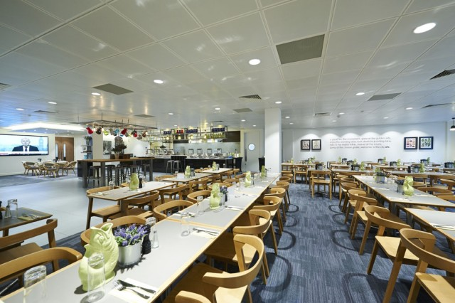 View of the large restaurant and buffet style lunch 8 Eastcheap Venue Hire EC3