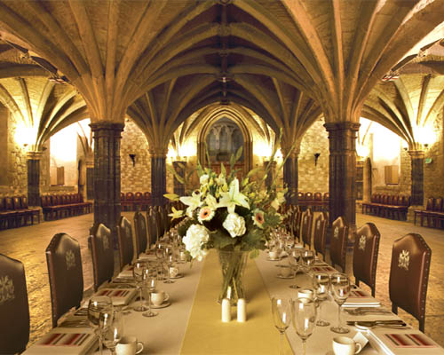 Guildhall Christmas Party EC2, seated dinner, private party