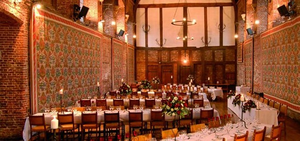 Hatfield House Christmas Party AL9, seated dinner, banqueting