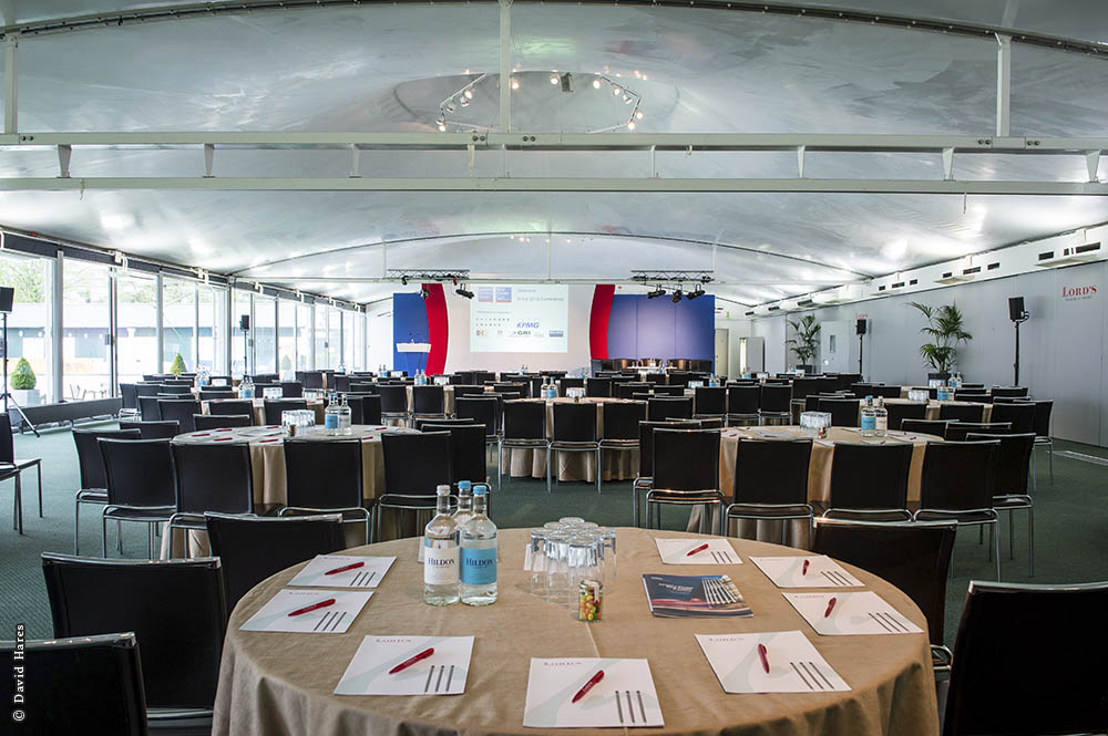 Lord's Cricket Ground Venue Hire NW8, cabaret set up in conferrence room