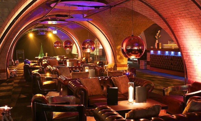 Old Billingsgate Vaults Shared Christmas Party EC3, vaults, seating area