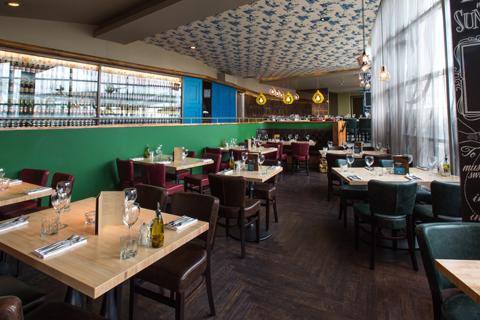 Rocket Nottingham Venue Hire NG1, green interior decor