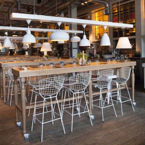 Parlour Venue Hire E14. Parlour main bar area with industrialist feel.