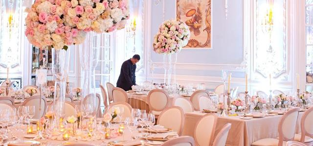 Savoy Hotel Christmas Party WC2, pink flowers and venue hire