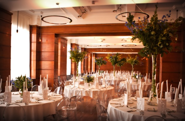 Town Hall Hotel London Christmas Party E2, wooden features for private dinner
